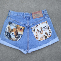 Puppy Love Fold Up Highwaisted Shorts ALL SIZES