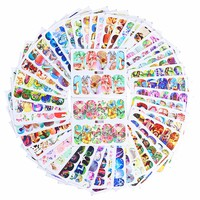 50 Sheets Animal Water Decal Butterfly Cat Dog Dream Catcher Colorful Nail Art Transfer Sticker