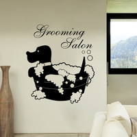 Dog Wall Decal Vinyl Grooming Salon Bathroom Stickers Pet Shop Home Decor SM29