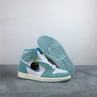 "[Free Shipping ]Air Jordan 1 ""Turbo Green""555088-311 Basketball Shoes"