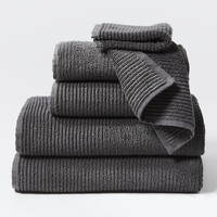 Temescal Shadow Organic Bath Towels by Coyuchi