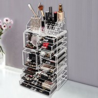 Acrylic Cosmetic Makeup Tower Organizer