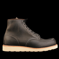 UNIONMADE - Red Wing - 6 Inch Moc Toe in Charcoal Rough and Tough Leather 8890