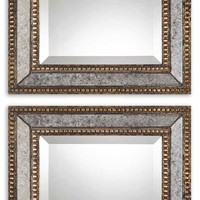 Norlina Antique Mirror Squares - Set of 2 by Uttermost