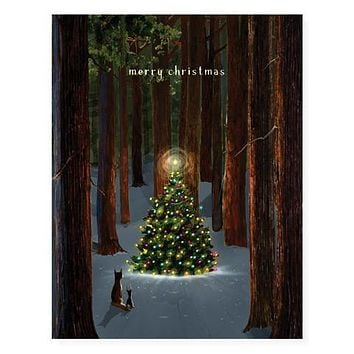 Tree Lighting Boxed Holiday Card Set