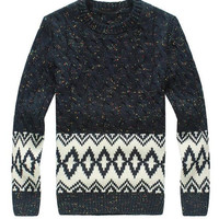 Navy Snowflake Knitted Sweater