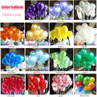 100pcs/lot air balloon 10inch Latex Birthday balloons Ball children party baby big ballon decoration inflatable wedding balloons