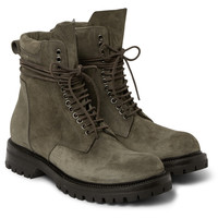 Rick Owens - Goodyear-Welted Suede Boots | MR PORTER