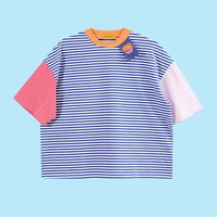 Damooshu City Boy Rainbow Striped Shirt