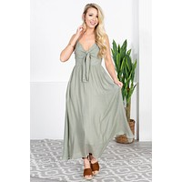 Olive You Front Tie Dress
