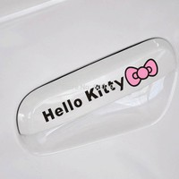 40 x Newest Hello Kitty Knot Car Handle Door Handle Stickers Car Decals For Chevrolet Lada Benz GMC Tesla