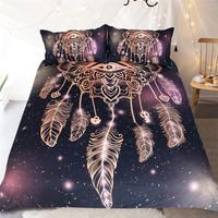 KISS QUEEN DREAM CATCHER STYLE DUVET COVER SET KING QUEEN FULL TWIN SIZE BEDDING SET FOR BEDDING DECORATION