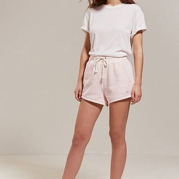 Champion + HVN for Urban Outfitters Gingham Track Short   Urban Outfitters
