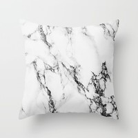 Marble #texture Throw Pillow by Follow Me Away
