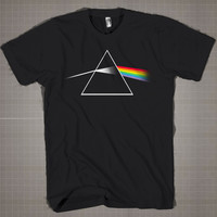 Pink Floyd The Dark Side of the Moon  Mens and Women T-Shirt Available Color Black And White