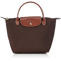 Longchamp Le Pliage Handbag, Small, Chocolate