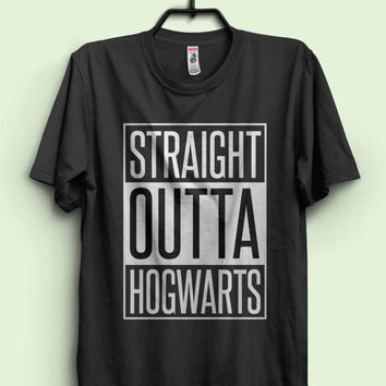 Harry Potter Inspired t shirt 'Straight Outta Hogwarts' Unisex T-Shirt