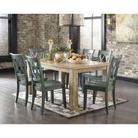 Modern 68 x 40 inch Rectangular Dining Table in Bisque Wood Finish