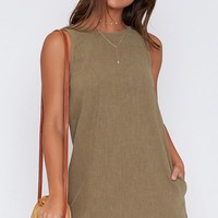 Rusty Threads Dress Sage