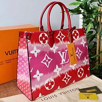 Louis Vuitton LV Rainbow Tote Bag Fashion Lady Shopping Bag Shoulder Messenger Bag
