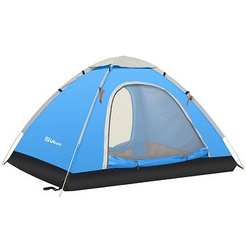 Ubon 2-3 Person Pop up Tent Instant Tent Lightweight Backpacking Tent Camping Sky Blue