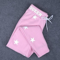 autumn winter star bandage pants sports casual trousers jogger pants for wome gift 73