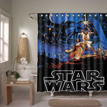 star wars shower curtain starwars poster