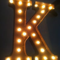 Vintage Marquee Lights Letter K by VintageMarqueeLights on Etsy