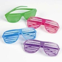 12 Pairs of 80's Sunglasses - Party Favors