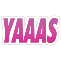 Yaaas Pink Typography Products