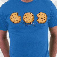 Cannibalism T-shirt - 100% Cotton. Mens, womens and kids sizes. This cute cookie comes in royal, baby, and pink.
