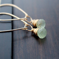 Parachute Gold Earrings w/ Prehnite