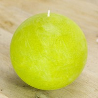 "Chartreuse Ball Candle 4"" - Pantone Greenery Inspired"