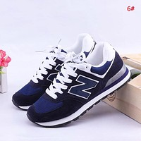 Alwayn New Balance New fashion Z letter mesh couple contrast color shoes 6#