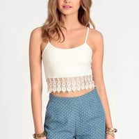 In a Daze Fringed Crop Top - $24.00 : ThreadSence, Women's Indie & Bohemian Clothing, Dresses, & Accessories