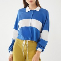 UO Carson Long Sleeve Polo Shirt | Urban Outfitters