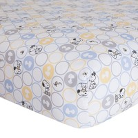 Peanuts My Little Snoopy Crib Sheet by Lambs & Ivy One Size (Blue/Ivy)