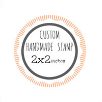 Custom Stamp - Custom Logo Stamp - Custom Rubber Stamp - Branding Stamp 2x2 inches