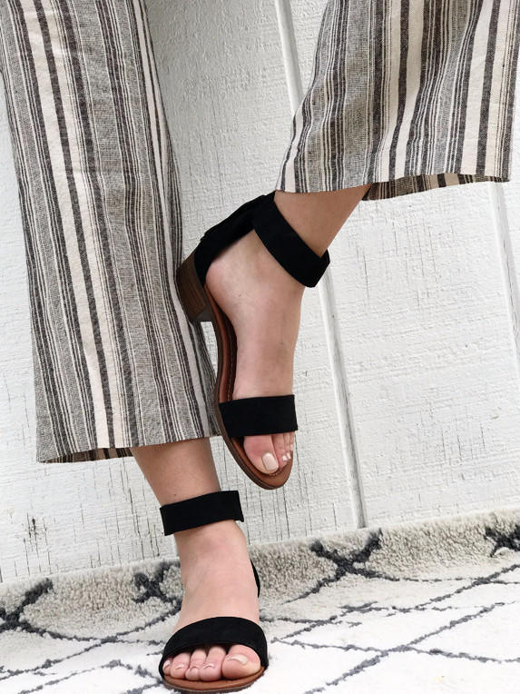 Image of Florence - Strappy Block Heel Sandals in Black