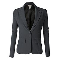 Single Button Oversized Boyfriend Blazer (CLEARANCE)