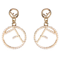 Fendi Fashion New Letter More Pearl Long Earring Shopping Women Jewelry