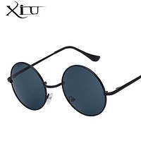 Sunglasses Men Women Round Steampunk Glasses Metal Designer Sunglasses