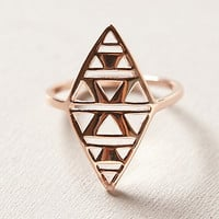 Rosegold Shield Ring