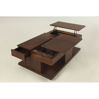 Progressive Furniture Le Mans Coffee Table with Double Lift-Top