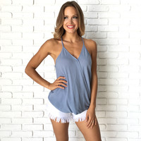 Civil Wrap Tank In Dusty Blue