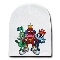 'Fresh Homies' Funny Cartoon - White Beanie Skull Cap Hat
