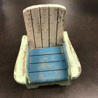 Rustic Multi Color Wood Beach Chair - Coastal Gifts & Decor