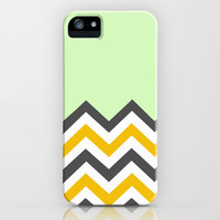Color Blocked Chevron 13 iPhone & iPod Case by Josrick