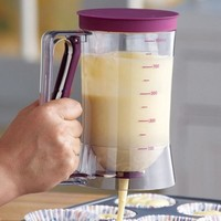 Batter Dispenser with Measuring Cup