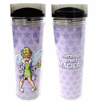 disney parks tinker bell mornings are't magical travel cup mug new